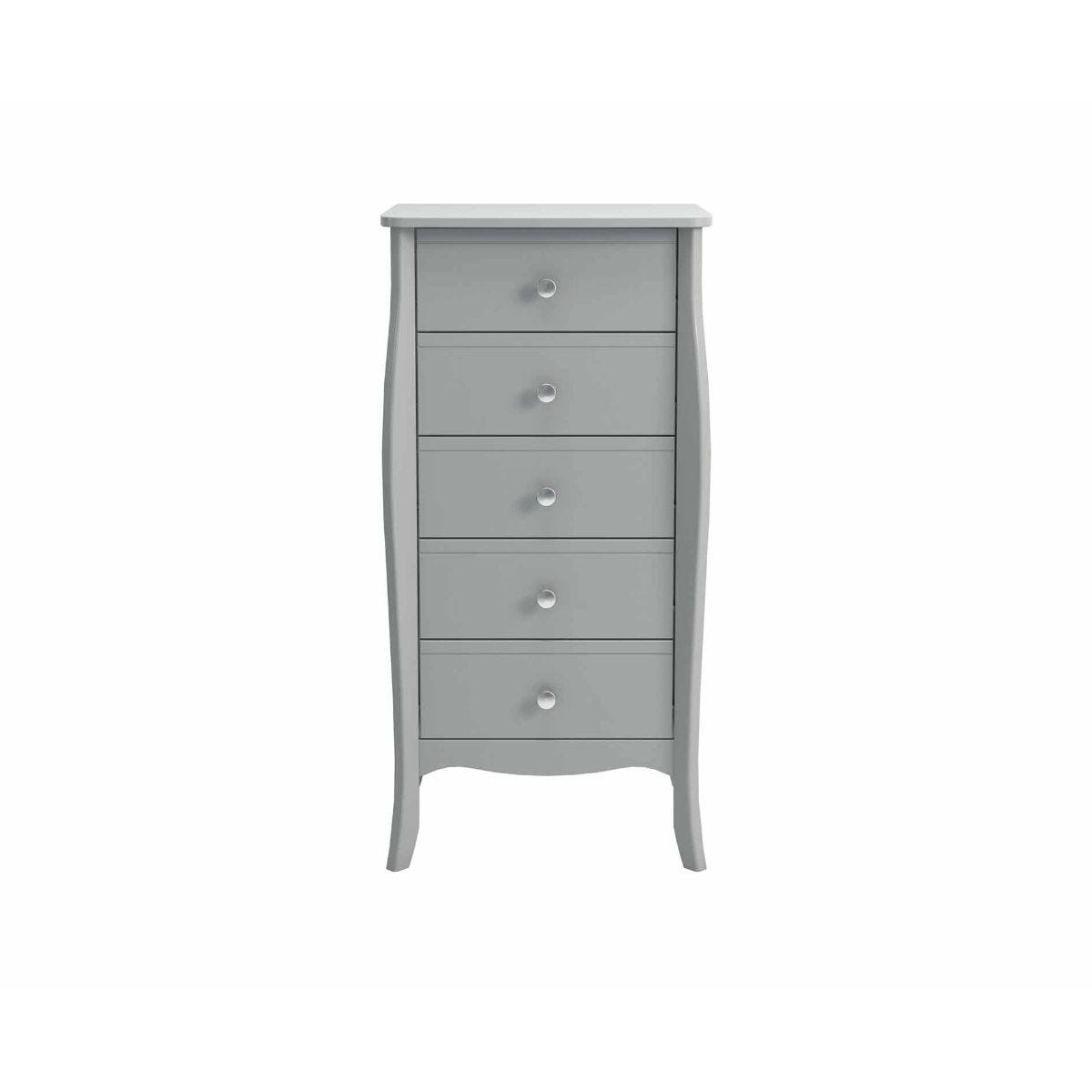 Steens Baroque Narrow Chest of Drawers, Grey