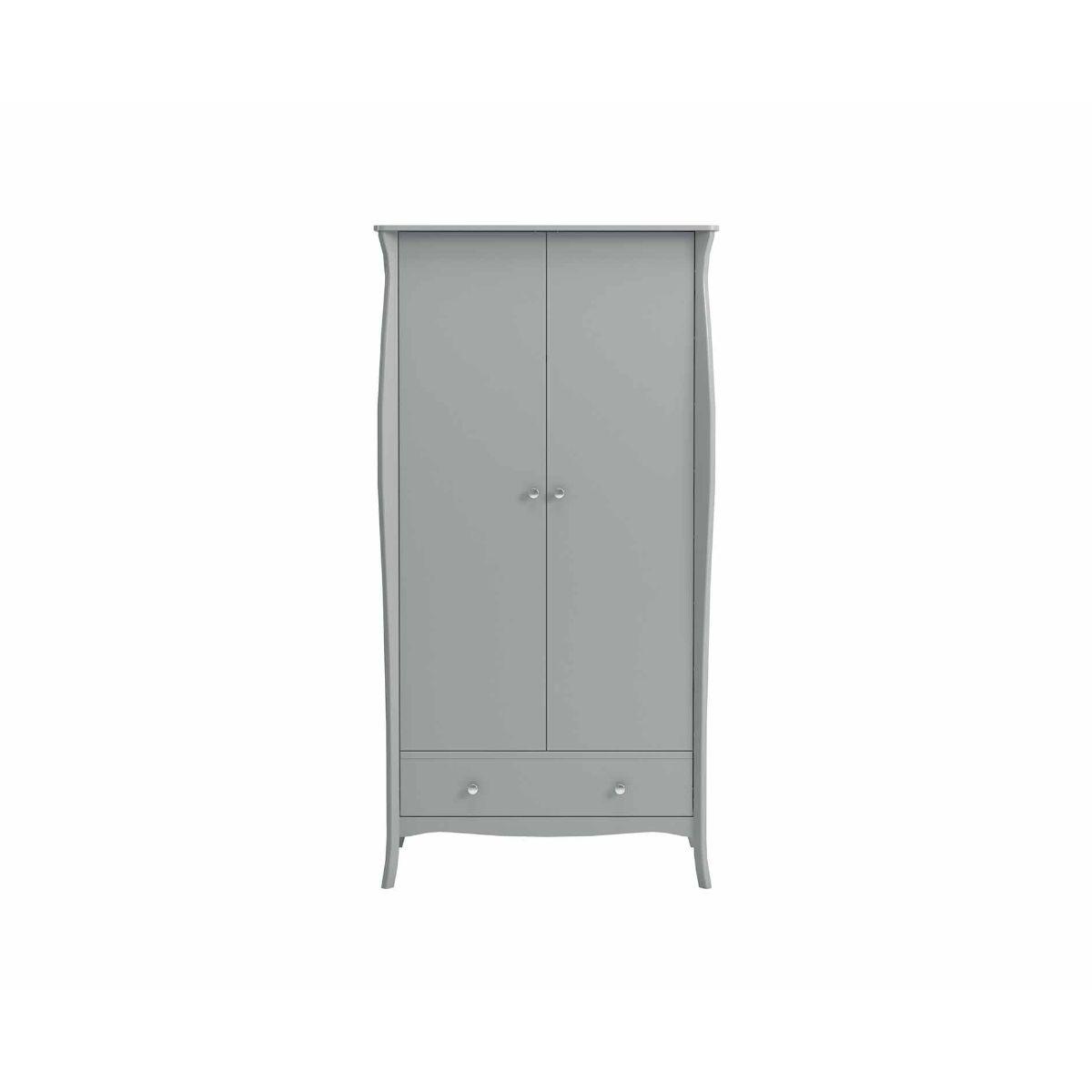Steens Baroque 2 Door Wardrobe, Grey