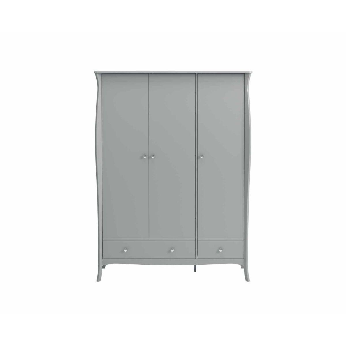 Steens Baroque 3 Door Wardrobe, Grey