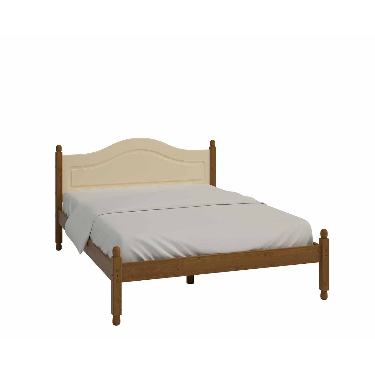 Steens Richmond Double Bed Frame 4ft 6, Cream