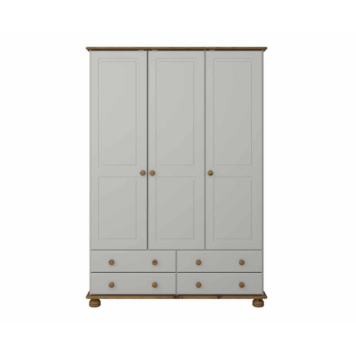 Steens Richmond 3 Door Over 4 Drawer Wardrobe, Grey