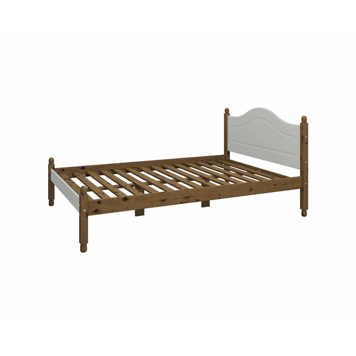 Steens Richmond Double Bed Frame 4ft 6, Grey