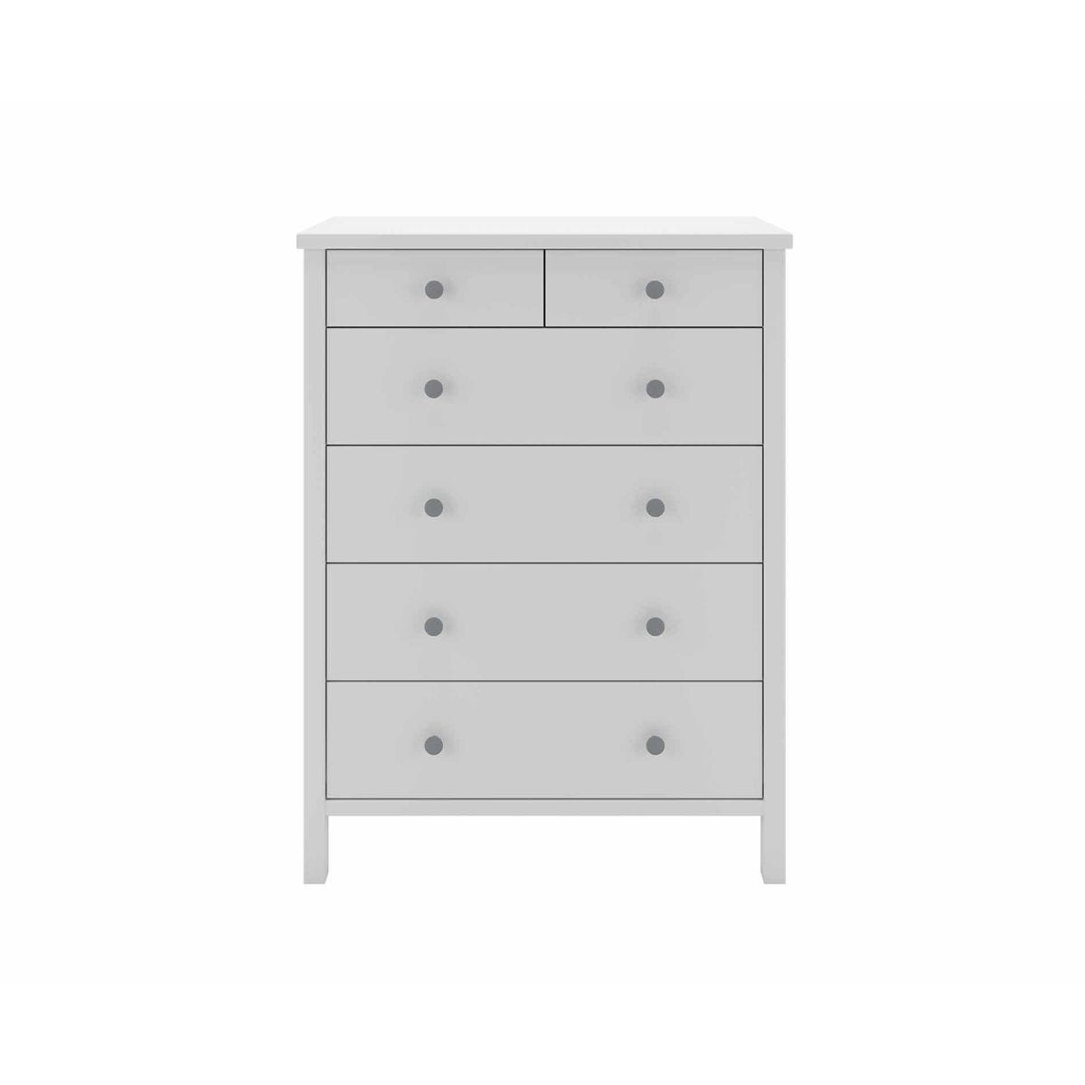 Steens Tromso 2 Over 4 Chest of Drawers, White
