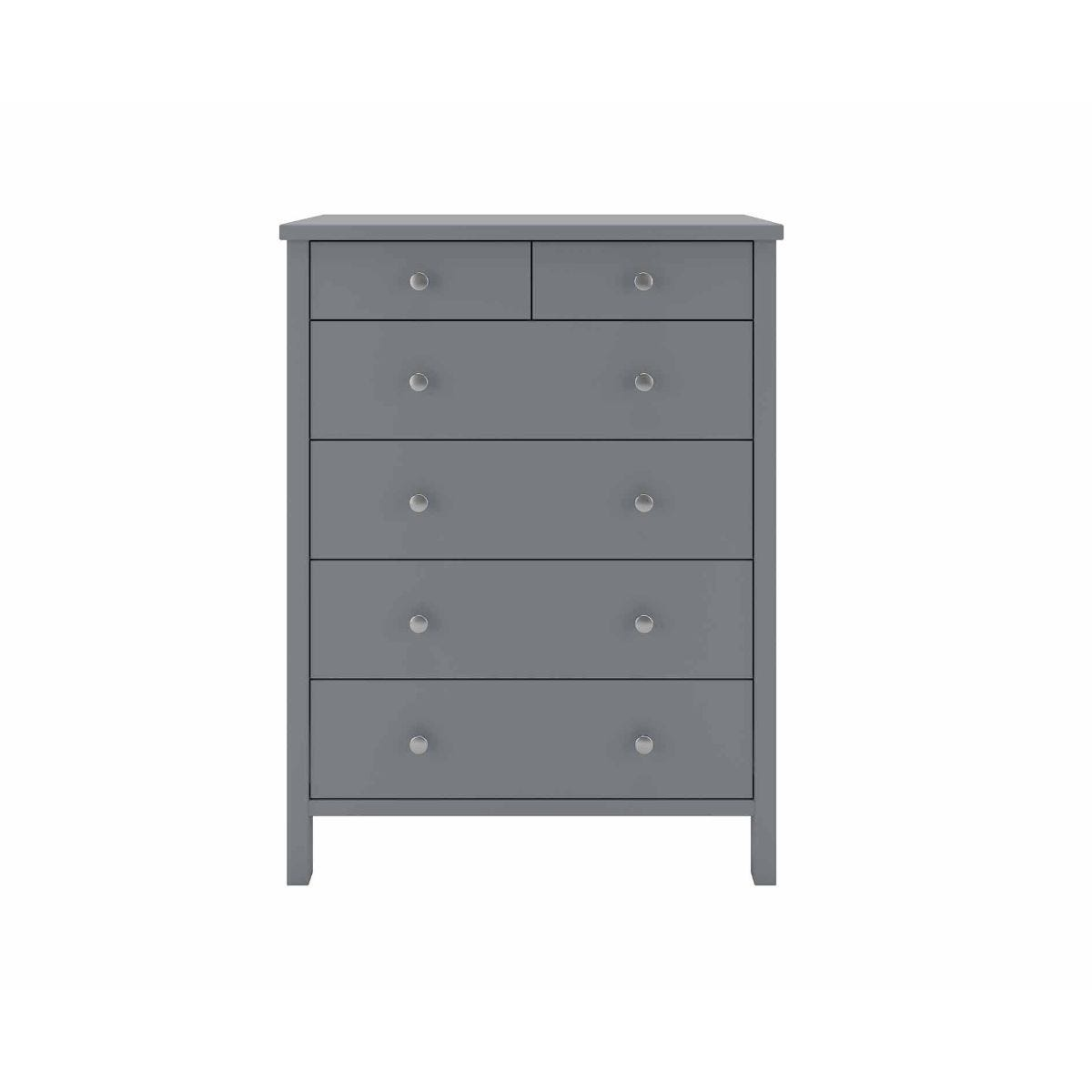 Steens Tromso 2 Over 4 Chest of Drawers, Grey