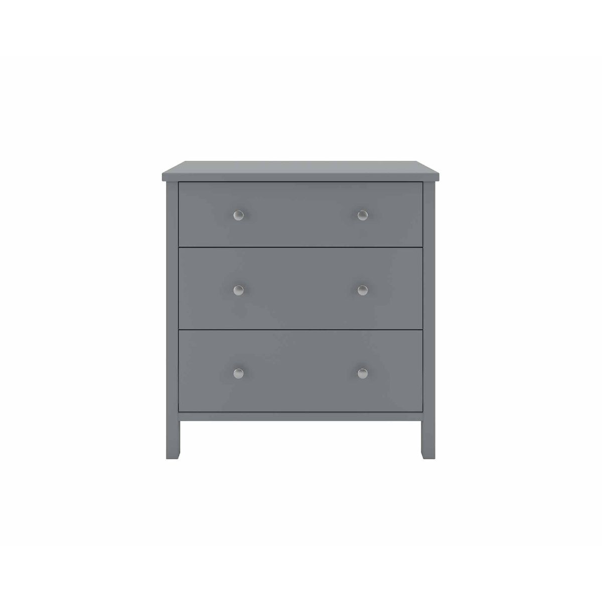 Steens Tromso 3 Drawer Chest of Drawers, Grey
