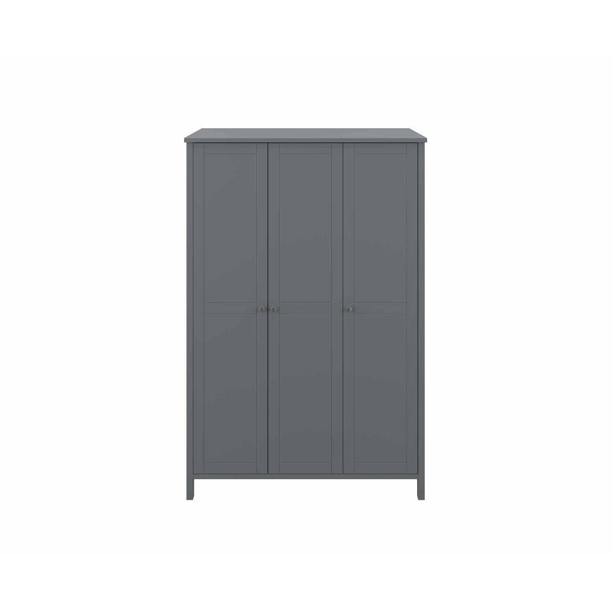 Steens Tromso 3 Door Wardrobe, Grey