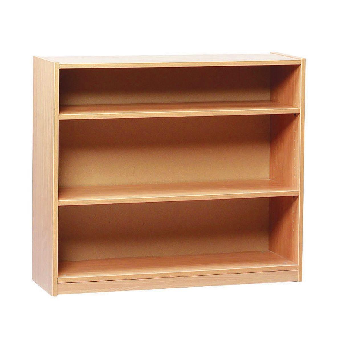 Open Bookcase 750mm 2 Adjustable Shelfs, Beech