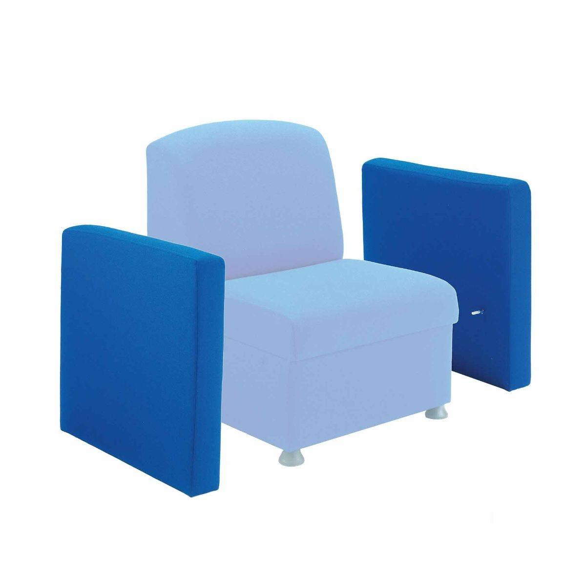 TC Office TC Office Single Glacier Arm for Modular Reception Chair, Royal Blue | Desks > Modular Office Furniture > Modular Office Furniture
