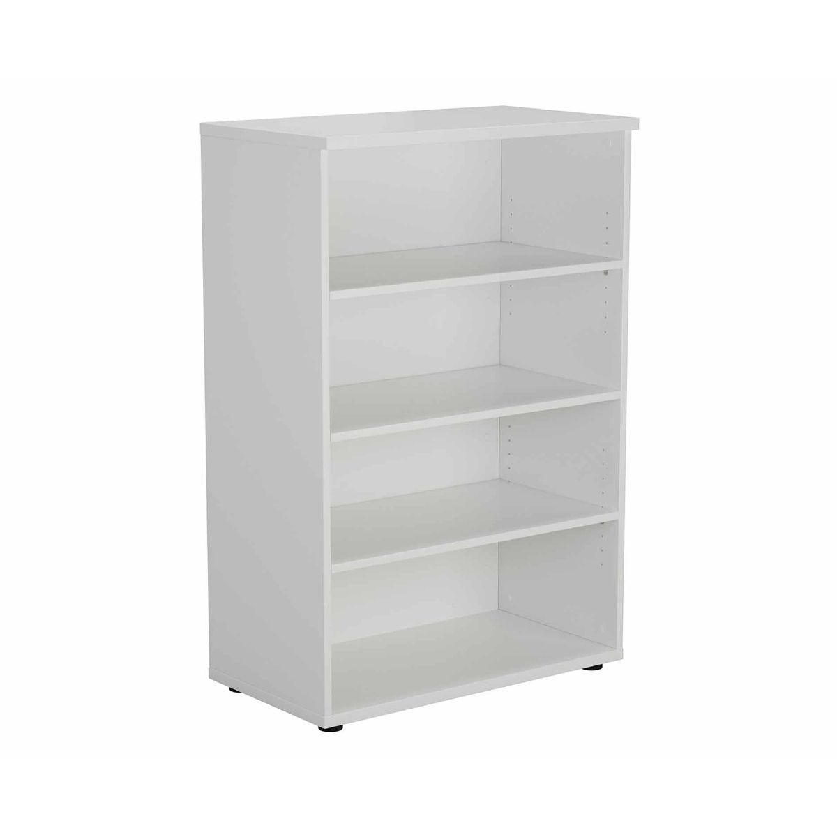 TC Office Bookcase with 3 Shelves Height 1200mm, White