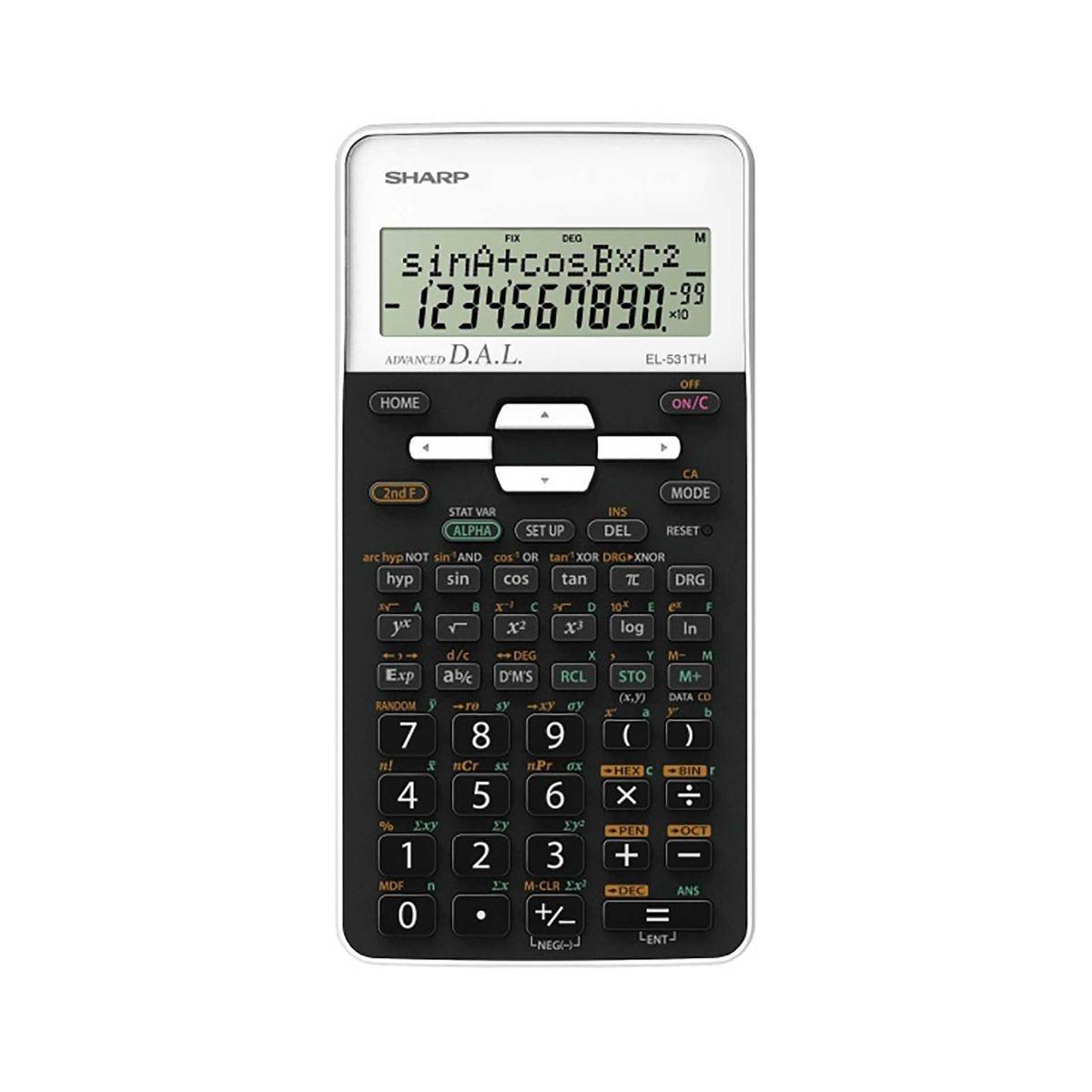 sharp  el-531thb-wh scientific calculator, white