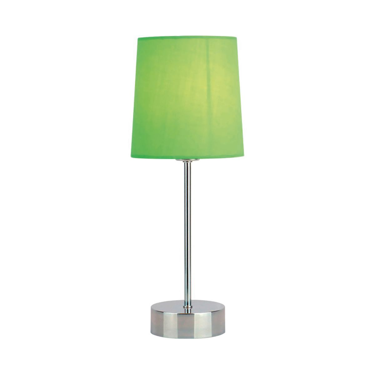 Quebec Chrome Stick Touch Table Lamp Shade, Green Shade