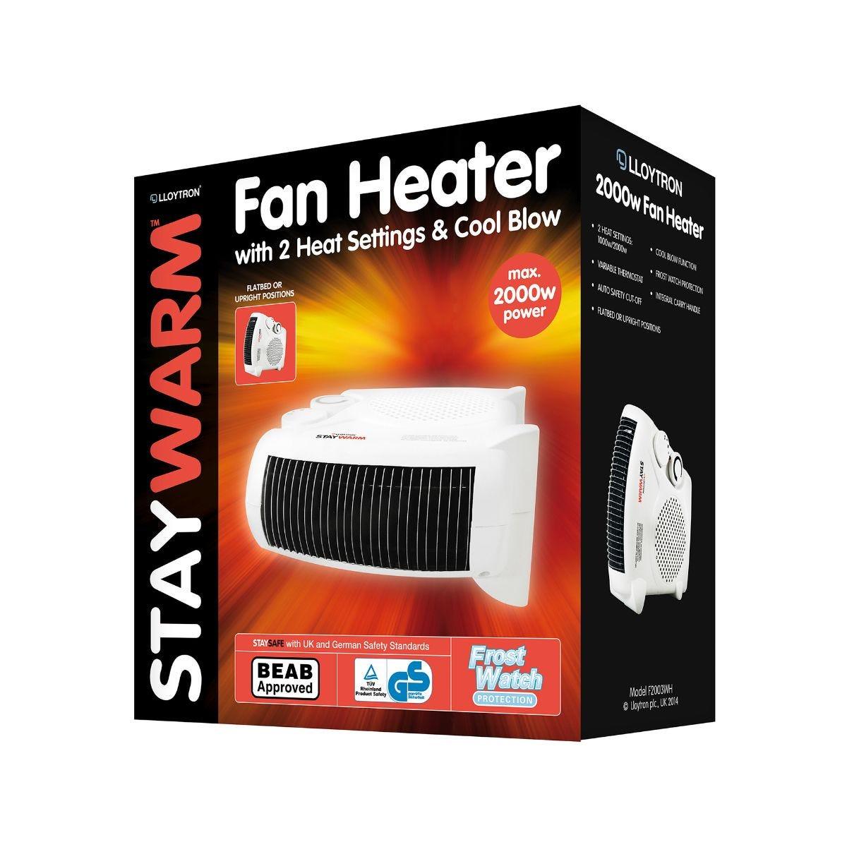 Image of Lloytron Staywarm Upright Fan Heater