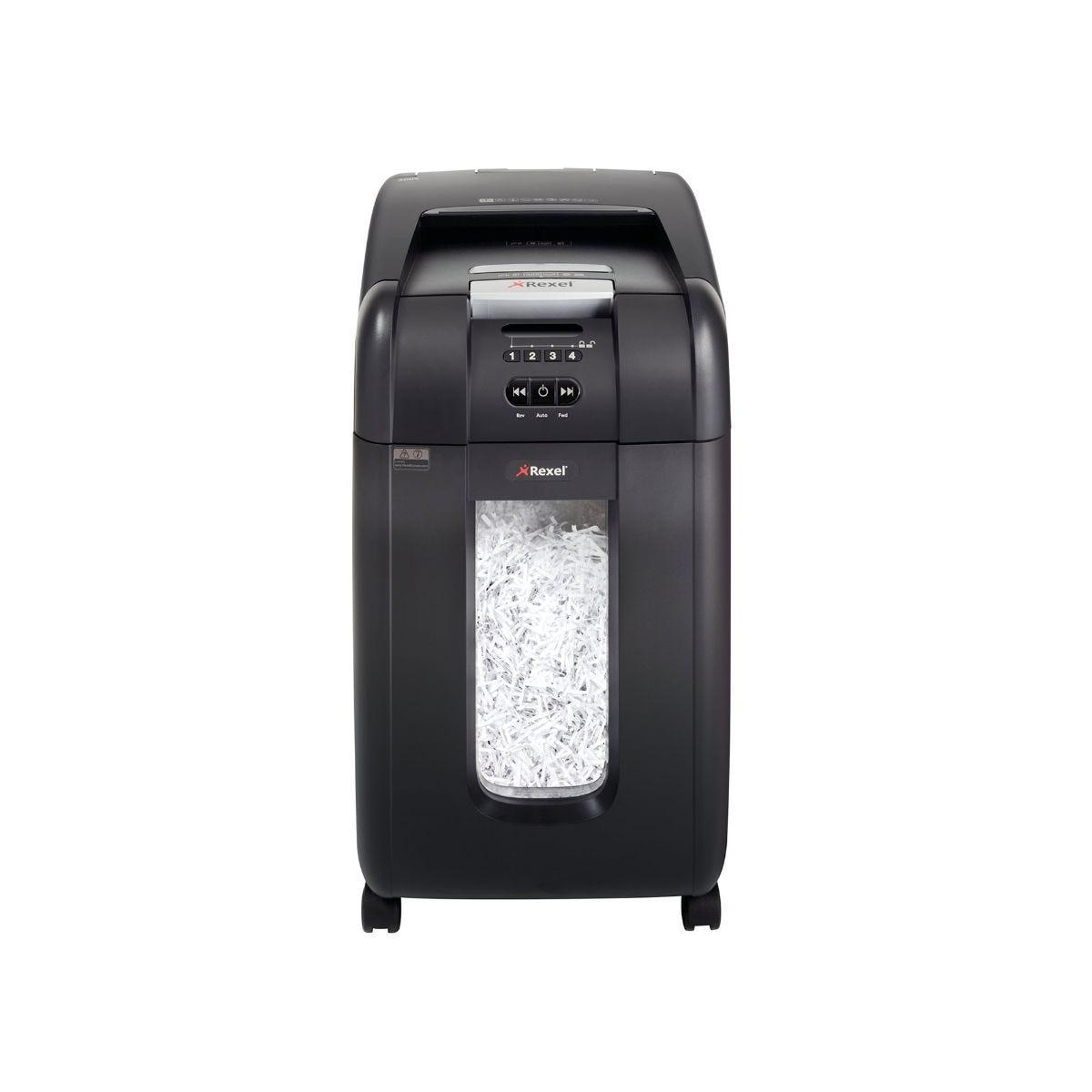rexel auto 300x 300 sheet cross cut shredder