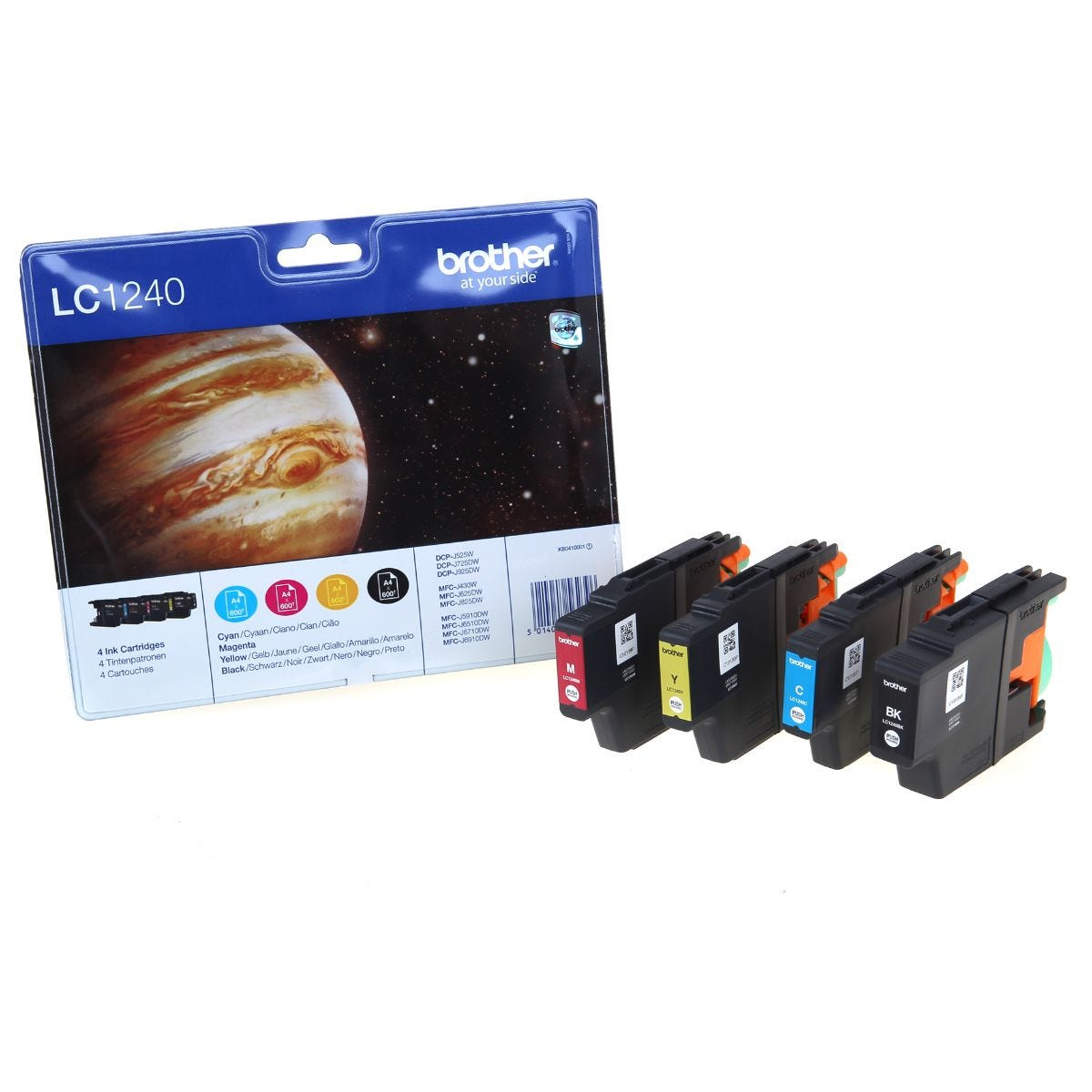 Image of Brother LC1240 Multipack Ink Cartridges, Multi