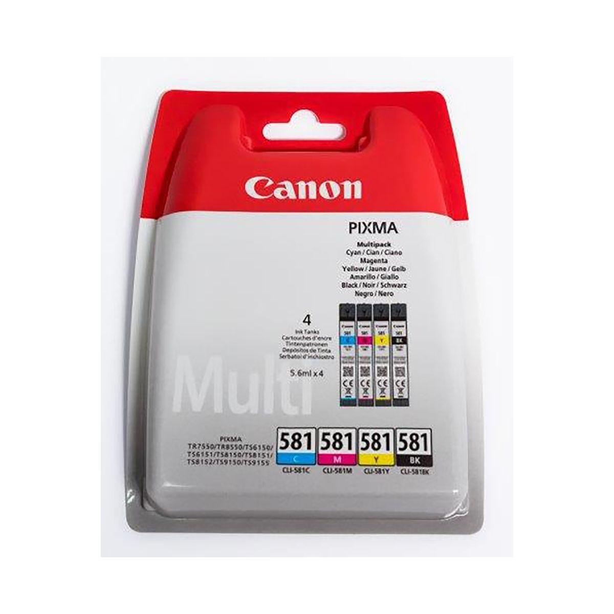 Canon Ink Cartridge CLI-581 Multipack, Multi