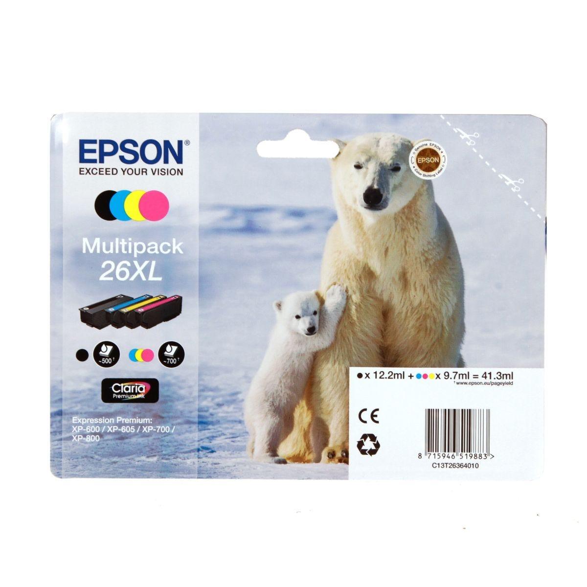 Epson 26XL Inkjet Cartridge Multipack, T2636
