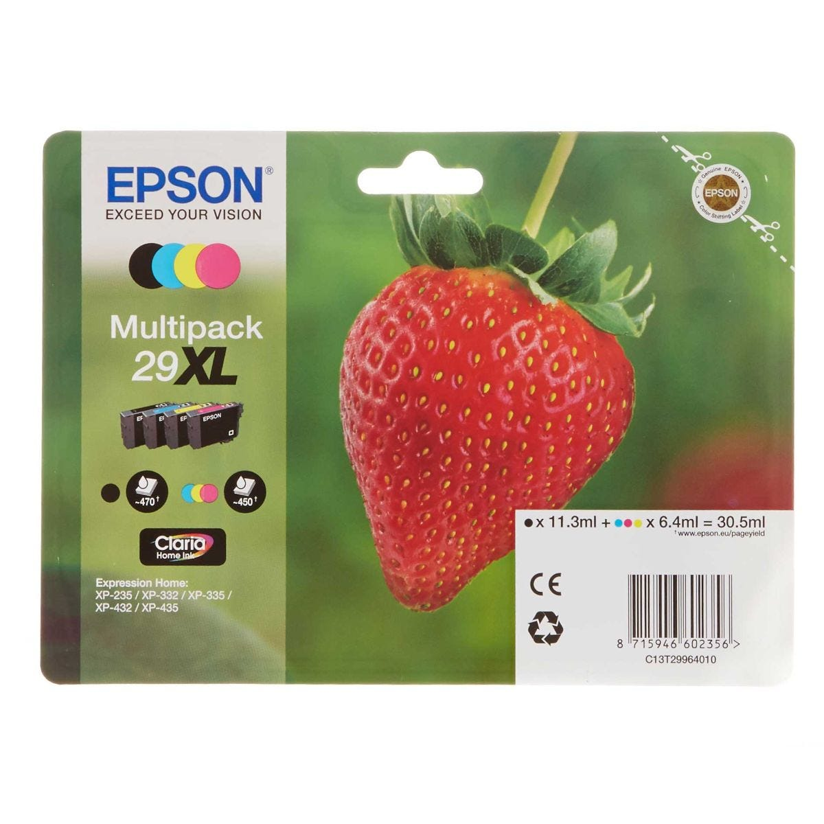 Epson 29 Strawberry Home Ink Cartridge XL Multipack, Multi
