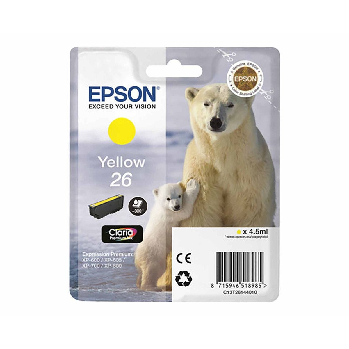 Epson T2614 Ink Yellow, Yellow