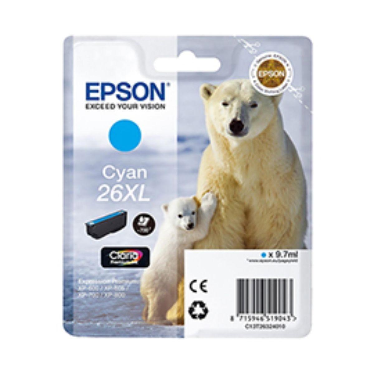 Epson T2632 XL Ink Cyan, Cyan.