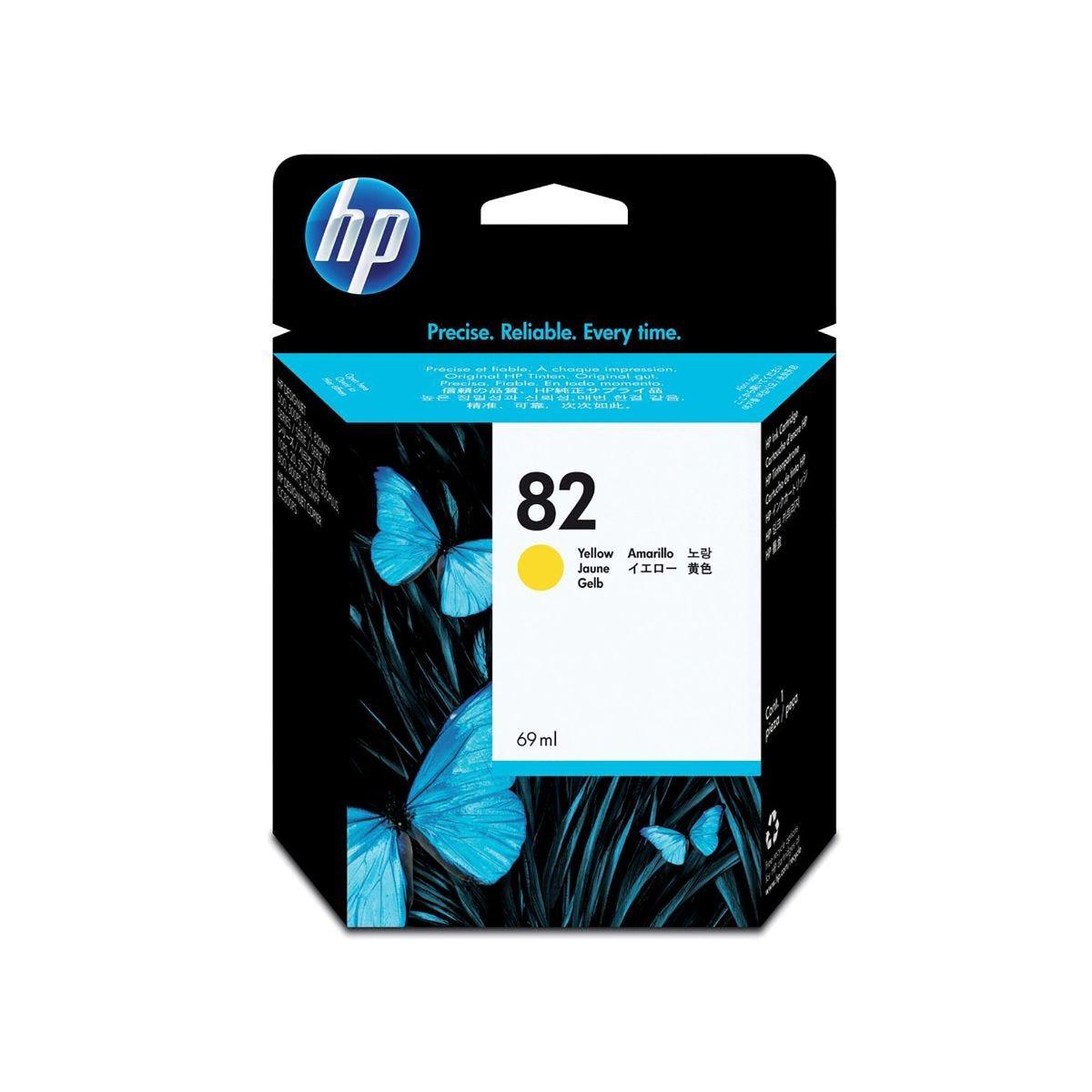 HP 82 Dye Inkjet Cartridge Yellow, Yellow