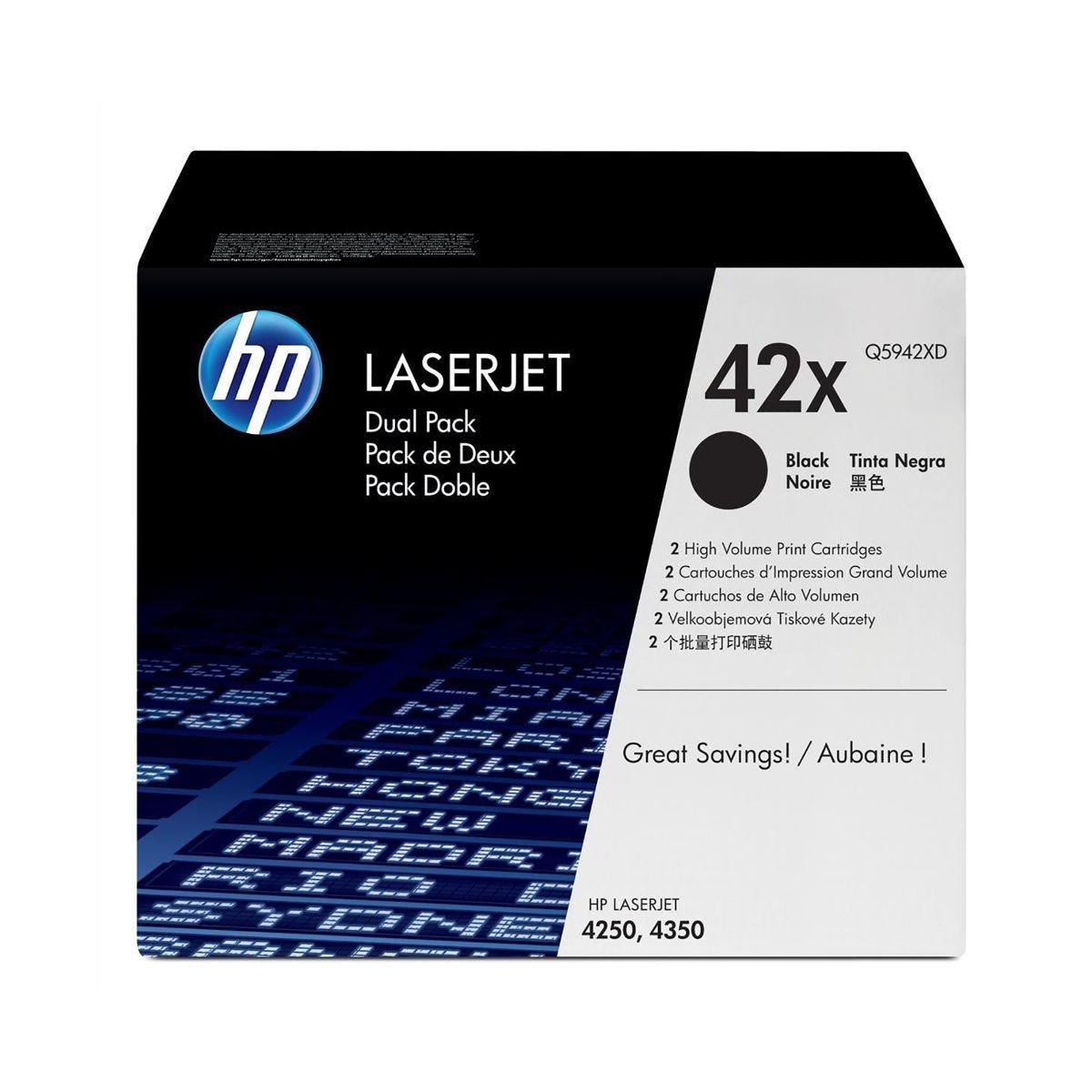 Image of HP 42X Dual Pack Toners Black, Black
