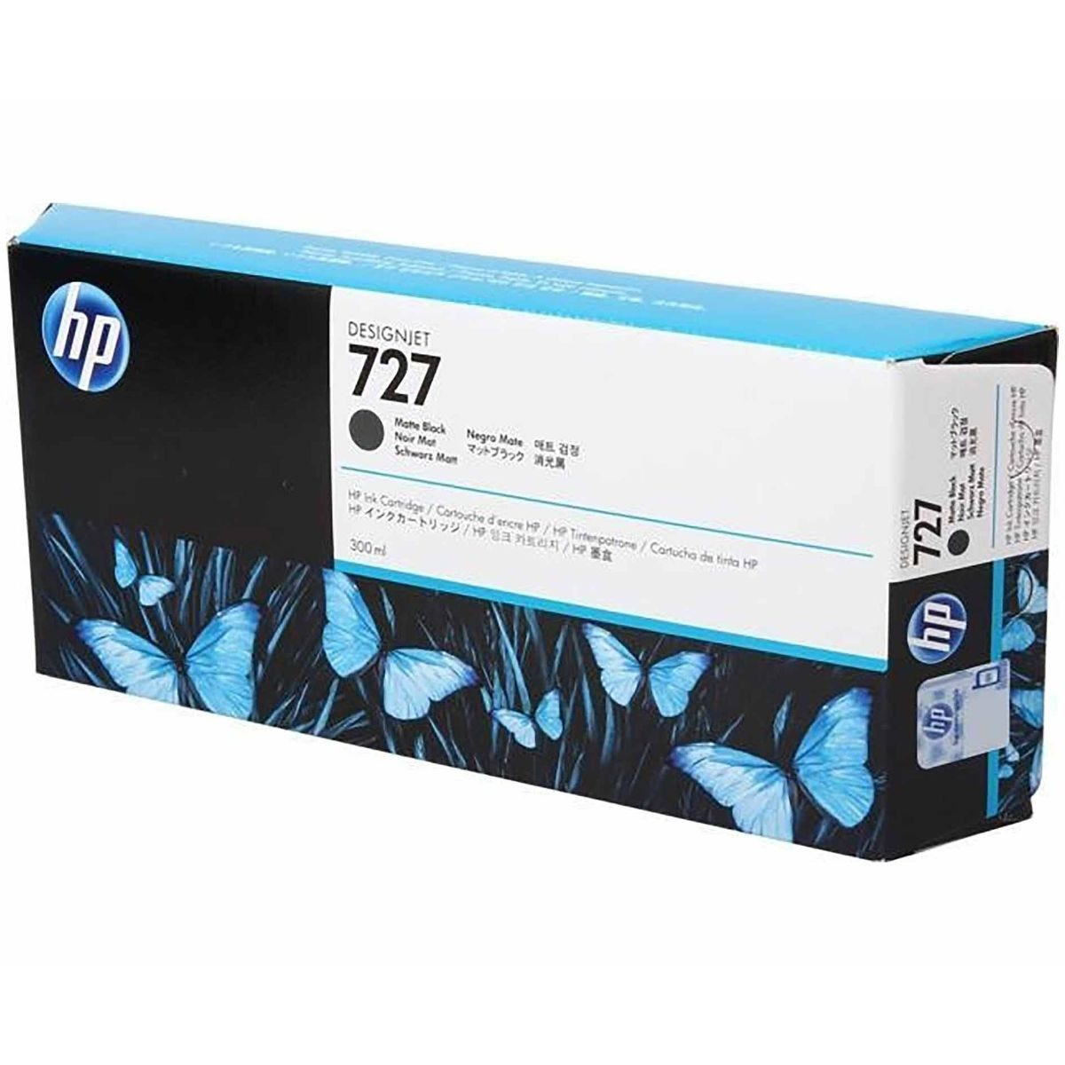 HP 727 300ml Ink Matte Black, Matte Black