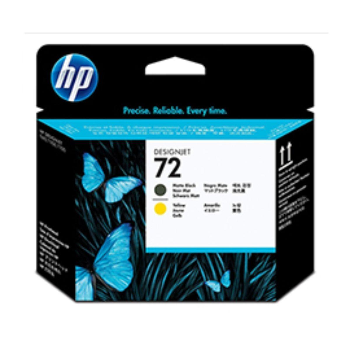 Image of HP 72 Printhead Matt Black and Yellow, Matt Blk/Yell