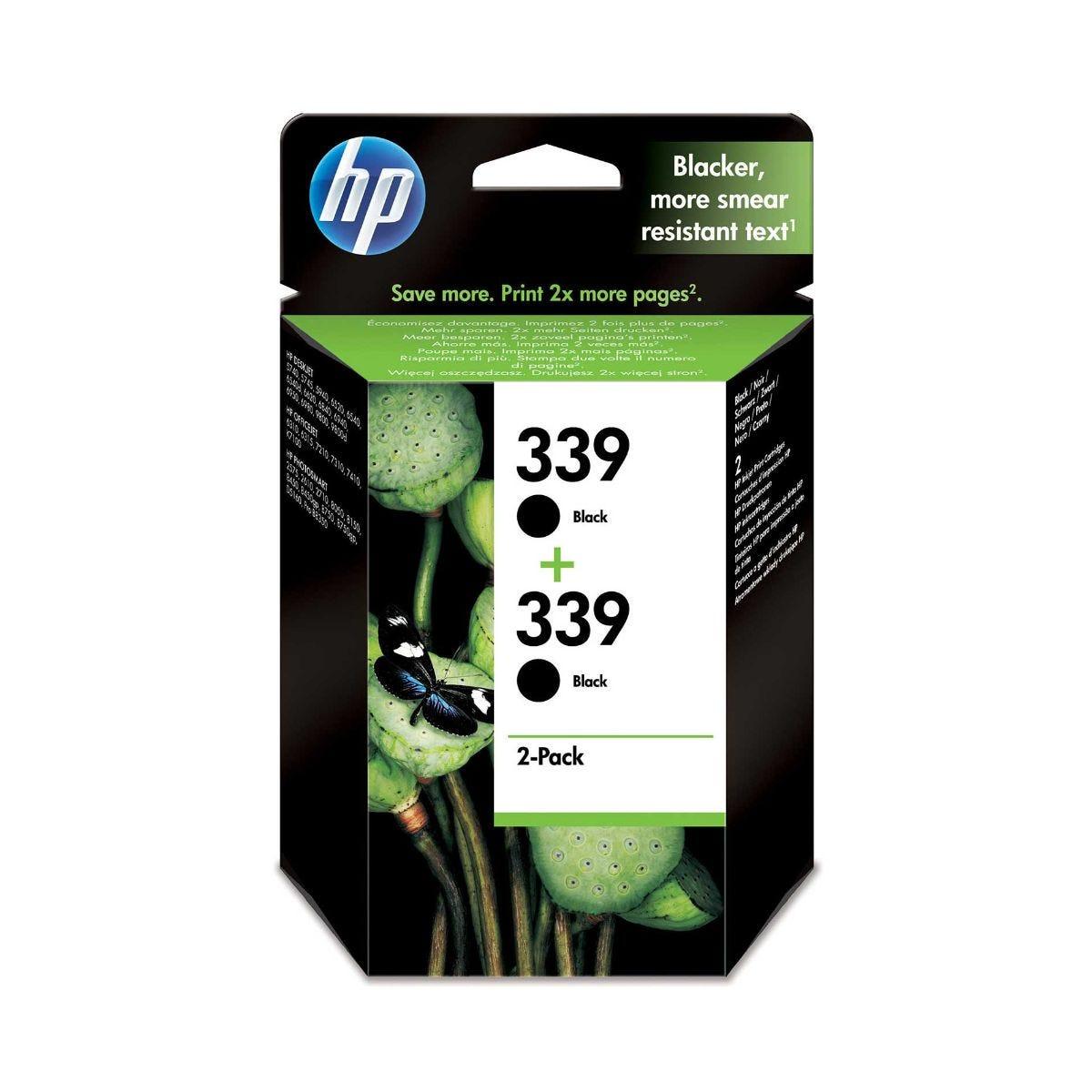 Image of HP 339 Ink Cartridge Pack of 2 21ml, Black