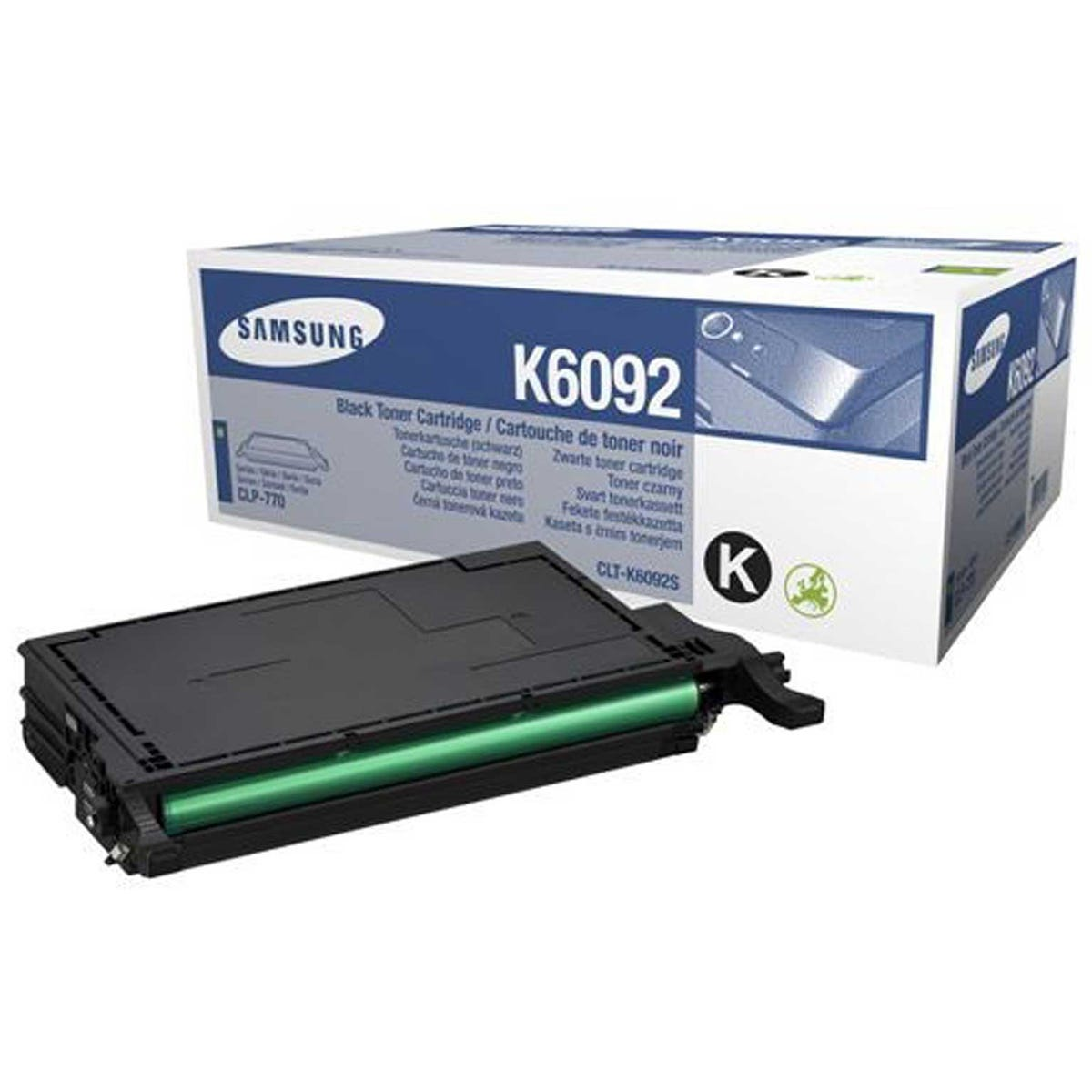 Image of Samsung CLT-K6092S Printer Toner Cartridge, Black