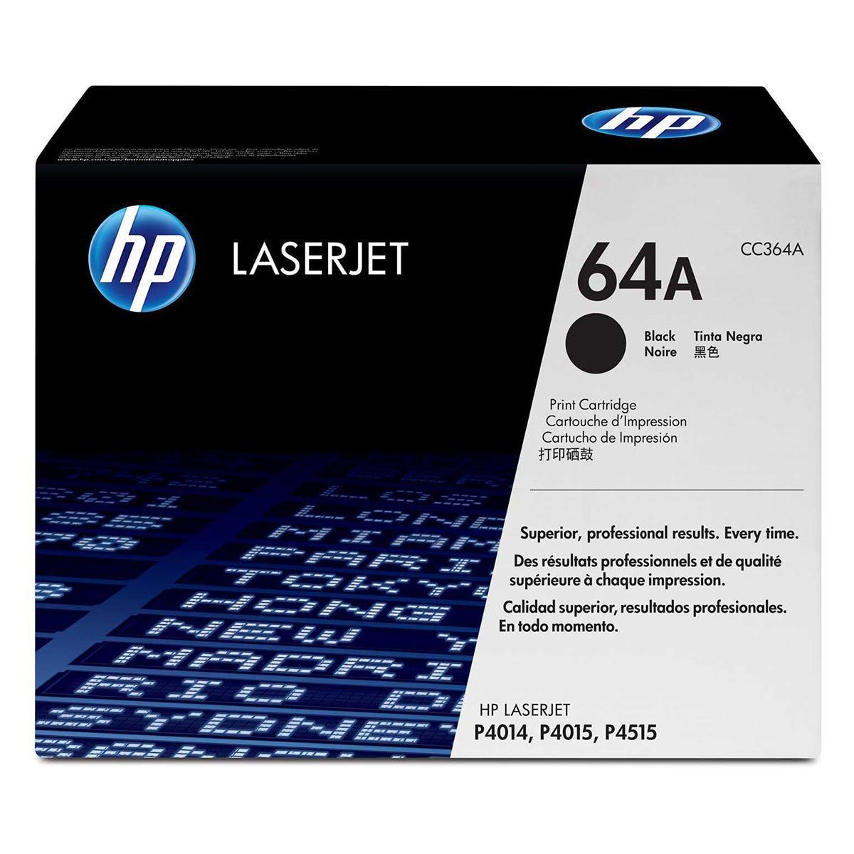 HP 64A Printer Ink Toner Cartridge CC364A, Black