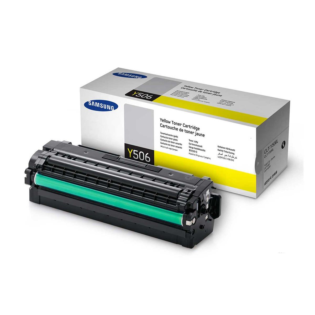 Samsung CLT-506L Inkjet Toner Cartridge, Yellow