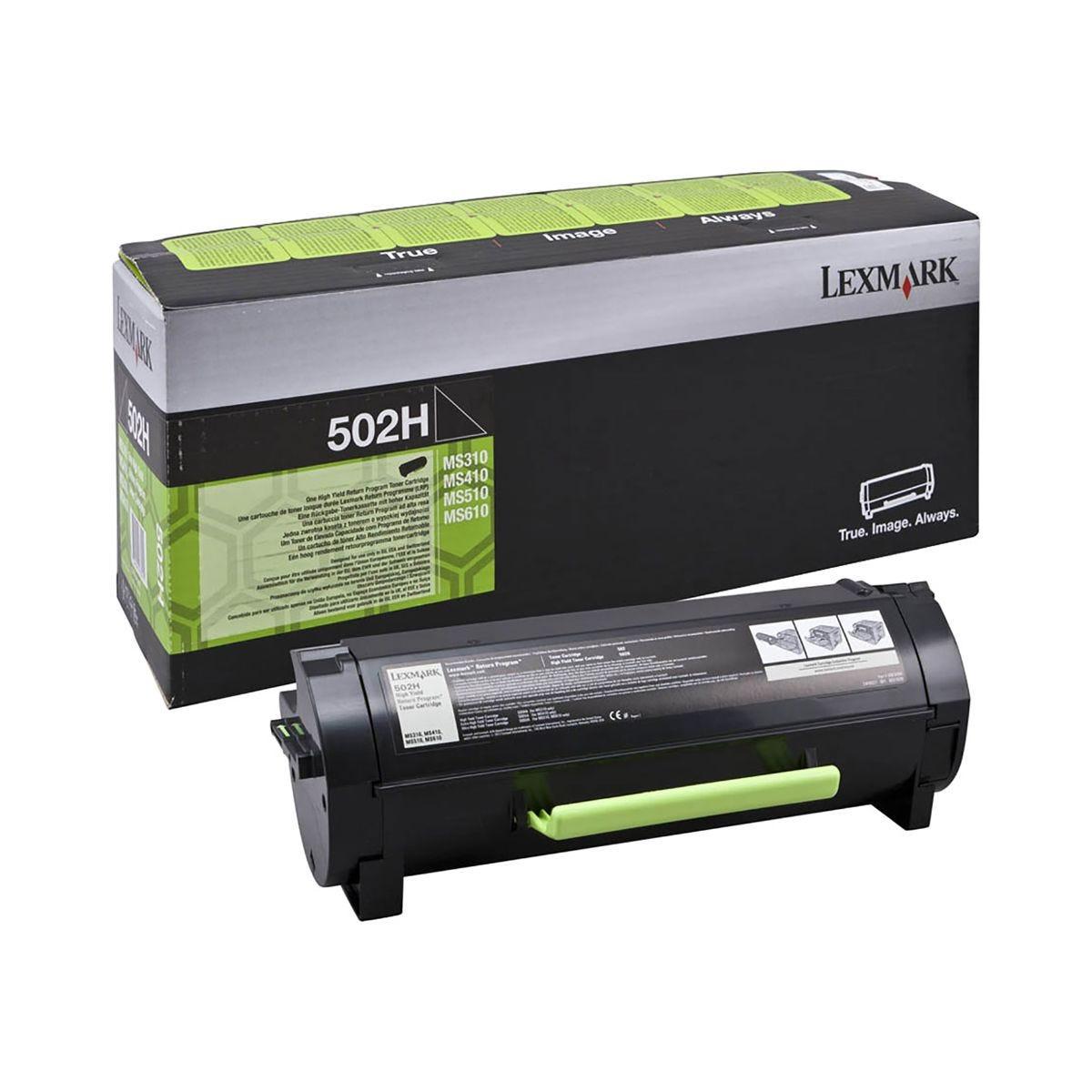 Image of Lexmark 502H Ink Toner Cartridge Black, Black