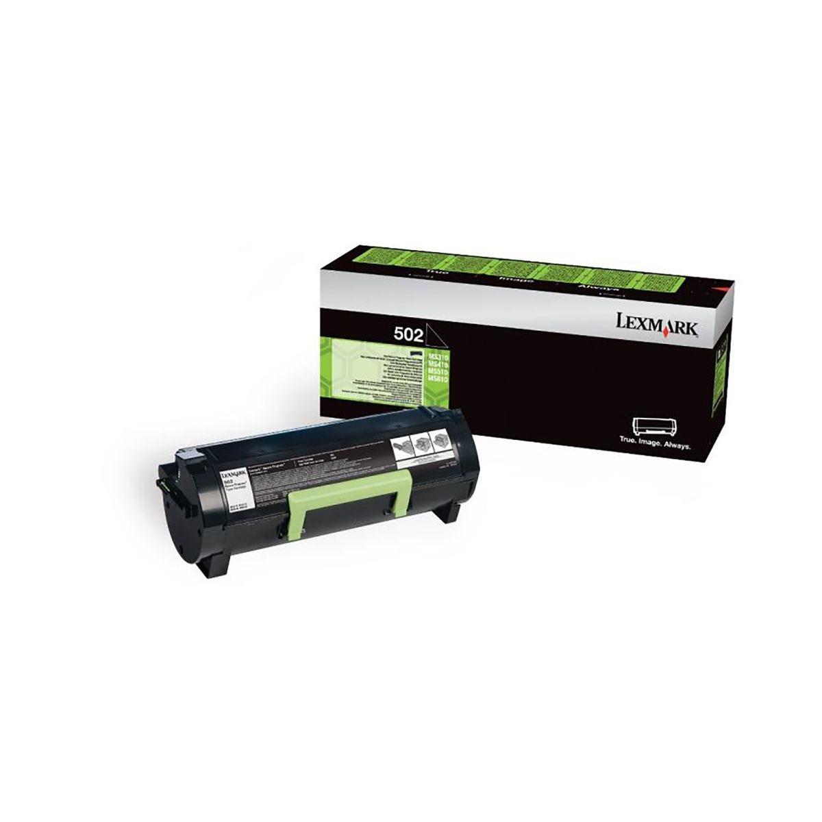 Image of Lexmark 502 Ink Toner Cartridge, Black