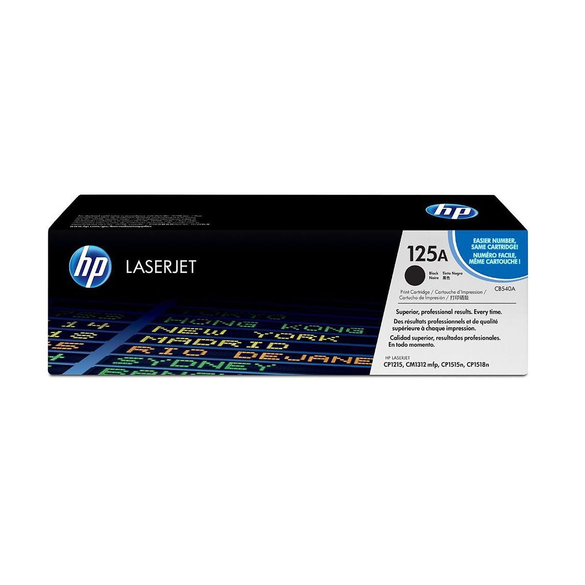 Image of HP 125A Dual Pack Toner Black CB540AD, Black