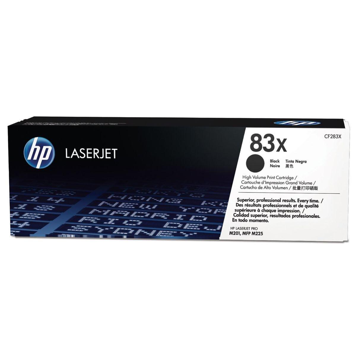 Image of HP 83X High Yield Black Original LaserJet Toner Cartridge CF283X, Black