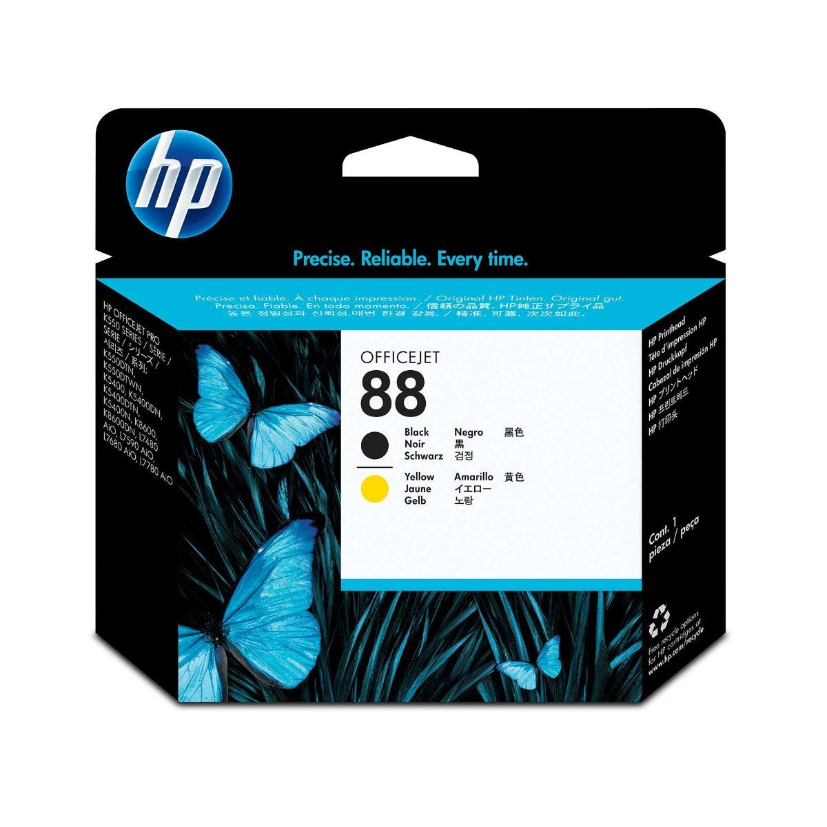 Image of HP 88 Ink Printhead Black and Yellow