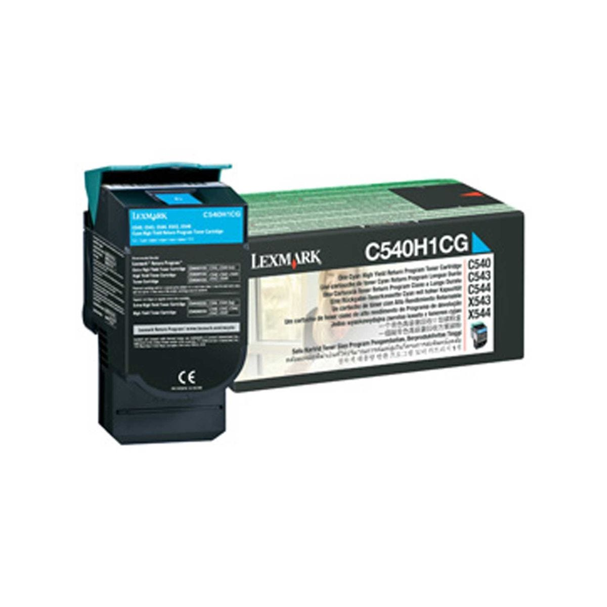Image of Lexmark OC540H1CG High Yield Printer Ink Toner Cartridge C54X/X54X, Cyan