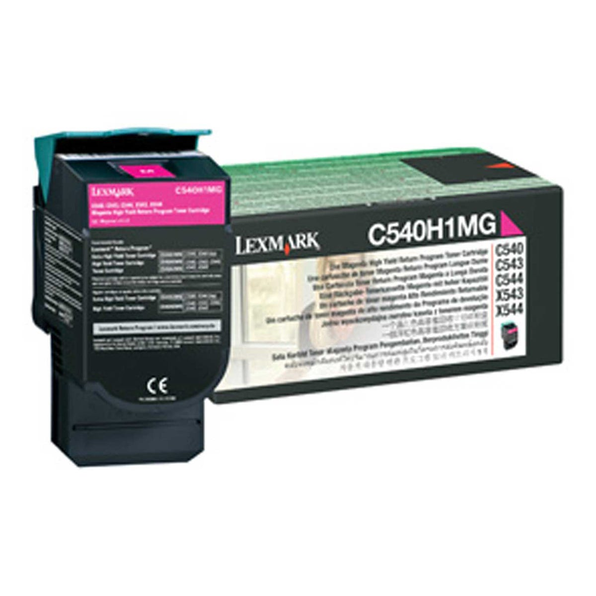 Image of Lexmark OC540H1MG High Yield Printer Ink Toner Cartridge C54X/X54X, Magenta