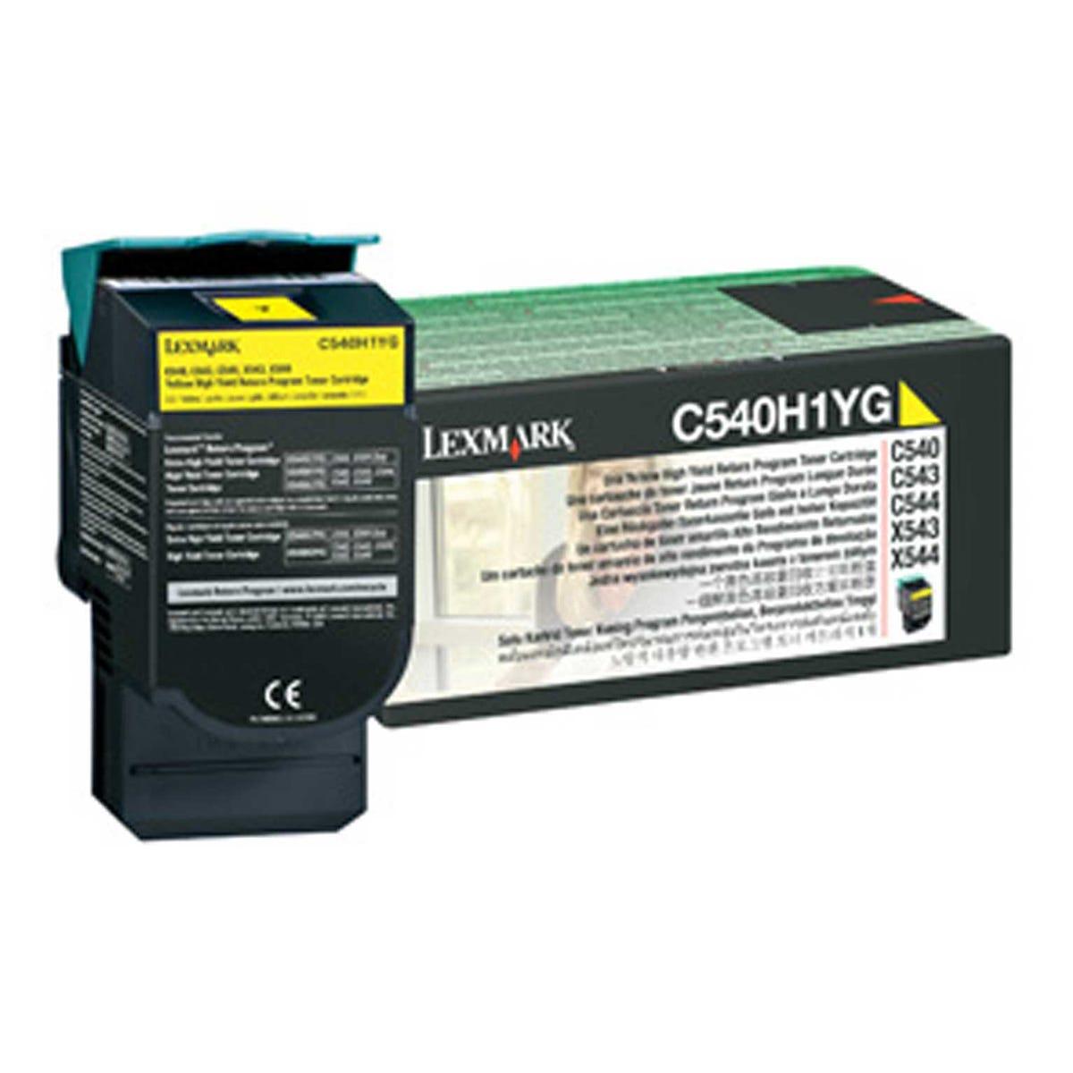 Image of Lexmark OC540H1YG High Yield Return Toner, Yellow