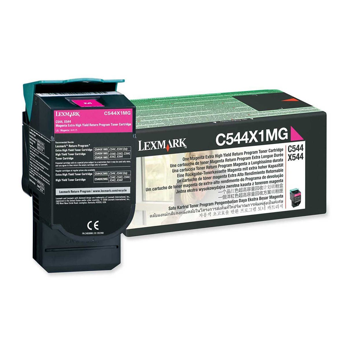 Image of Lexmark C544X1MG Toner Cartridge Extra High Yield, Magenta