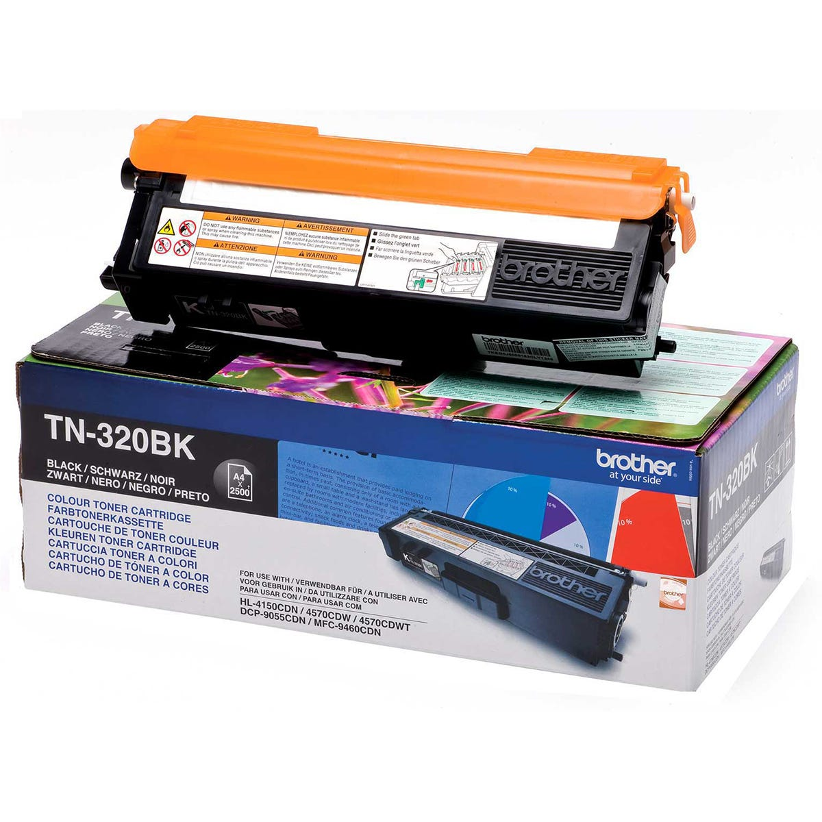 Image of Brother TN 320 Printer Ink Toner Cartridge