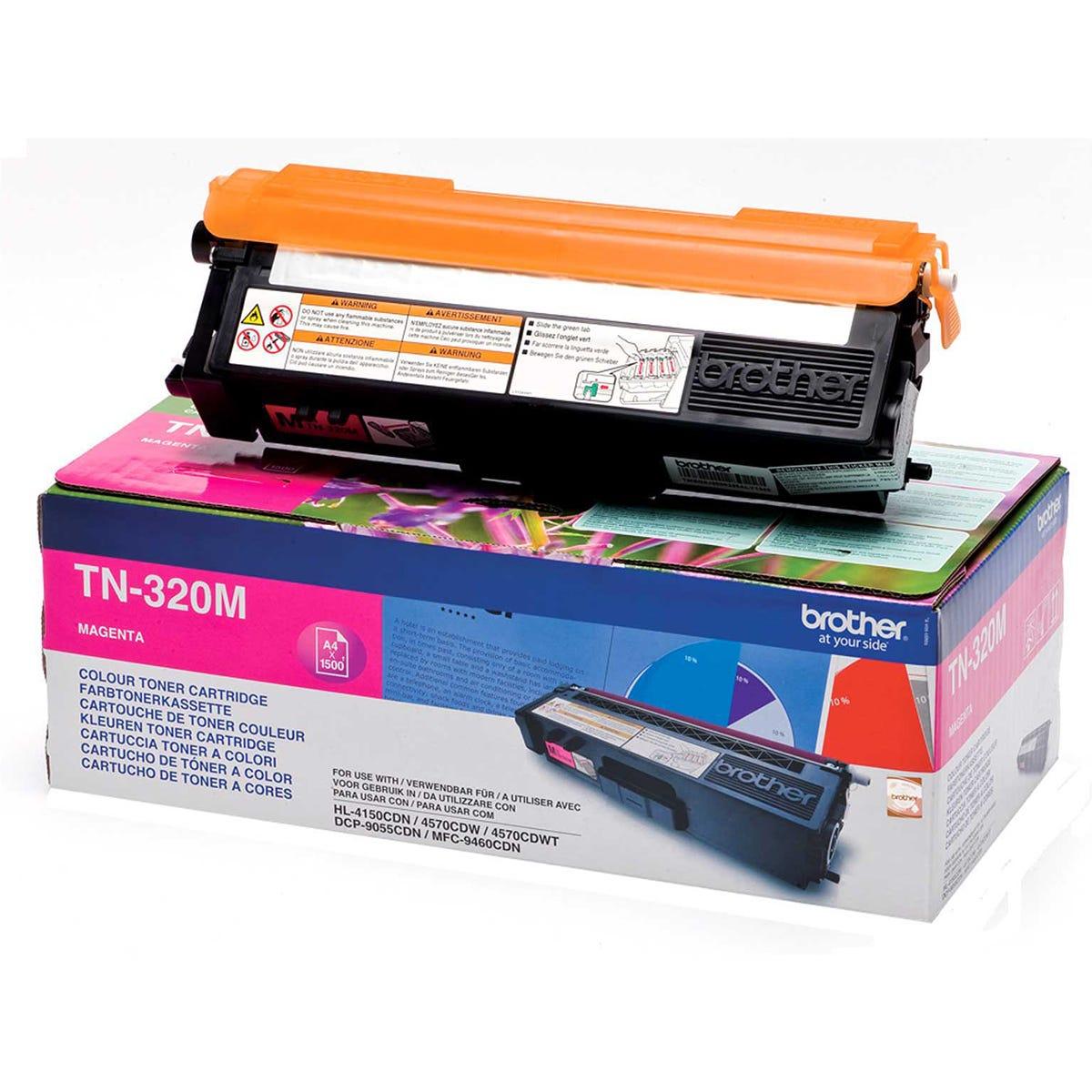 Brother TN 320 Toner Ink Printer Cartridge Magenta, Magenta