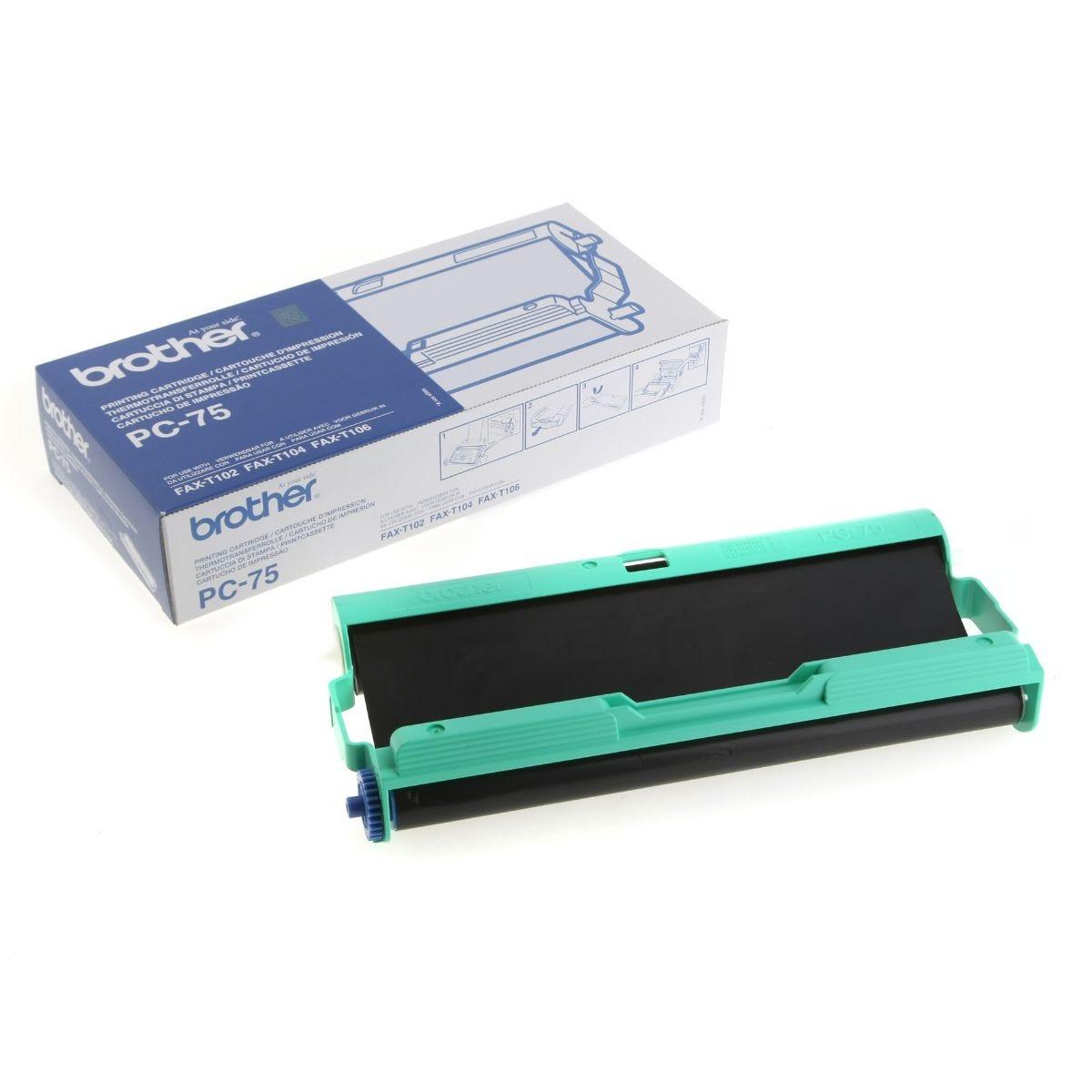 Brother Fax Film PC-75 T104/106, Black
