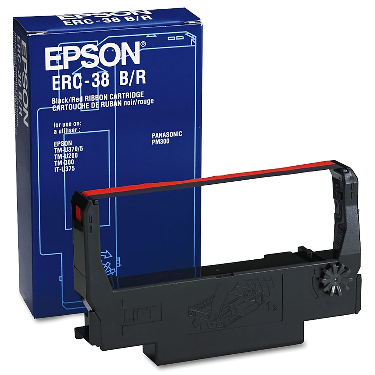 Image of Epson Black and Red ERC 38 Ribbon