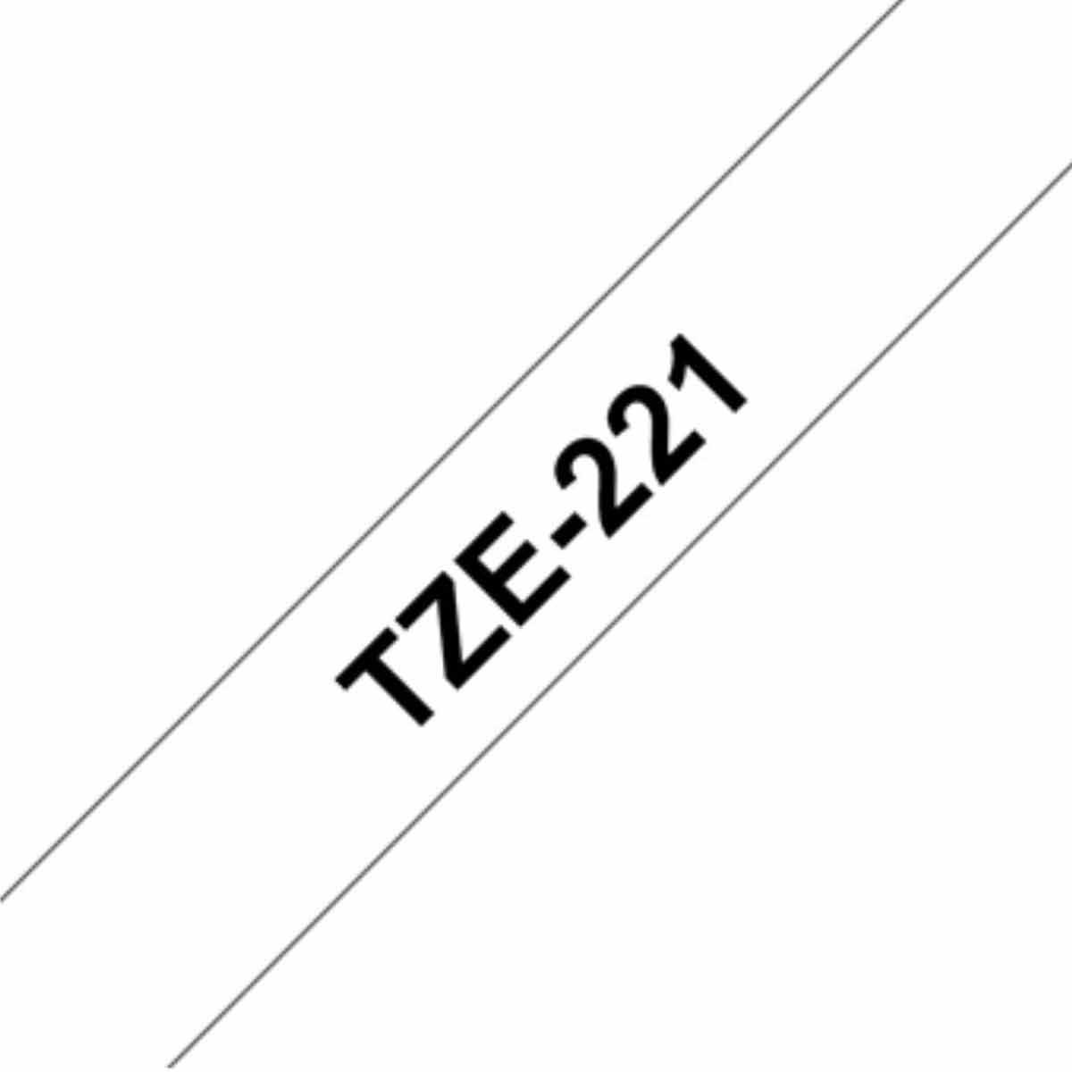 Brother TZ221 Tape 9mm, Black/White