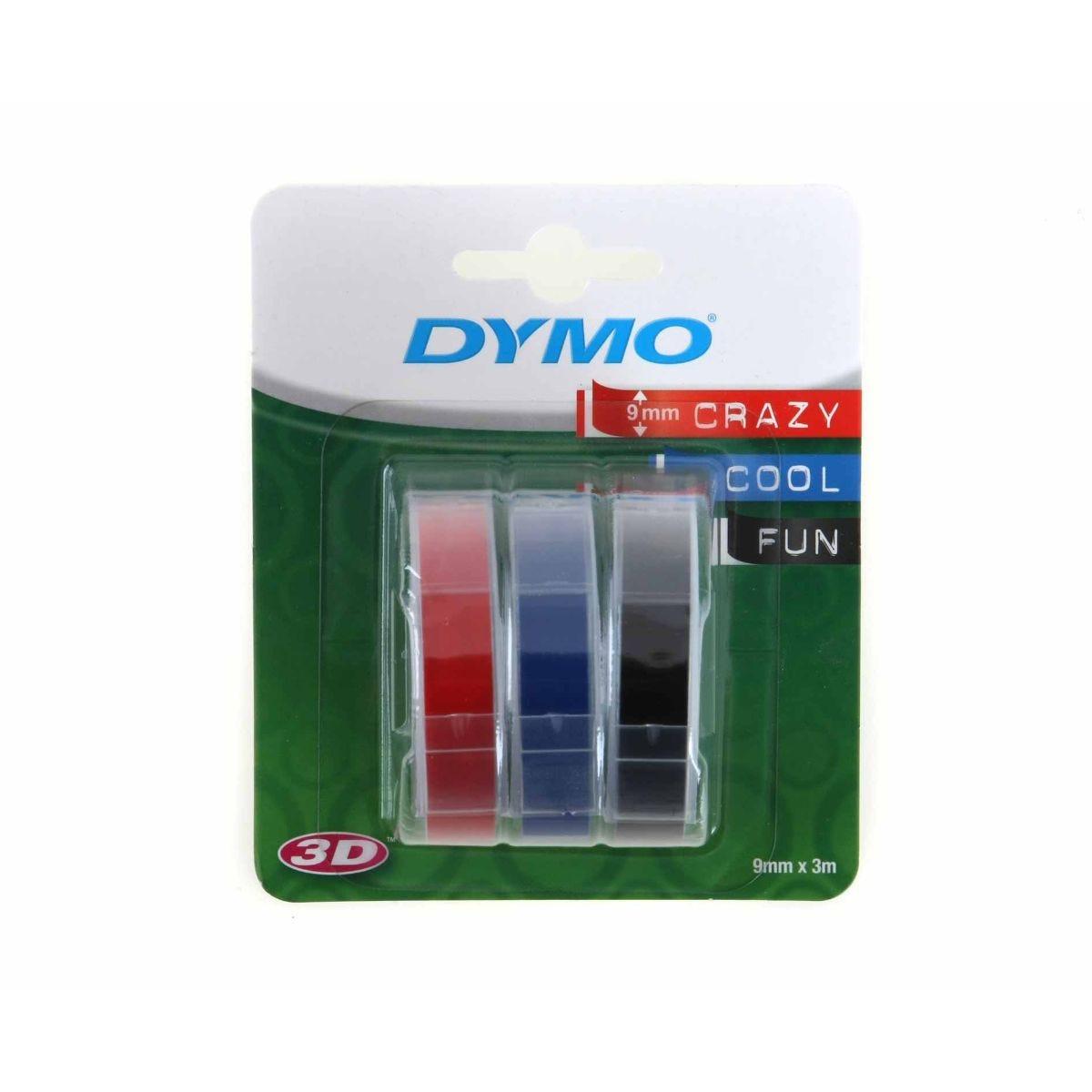 Dymo Embossing Tape 9mm x 3m Pack of 3