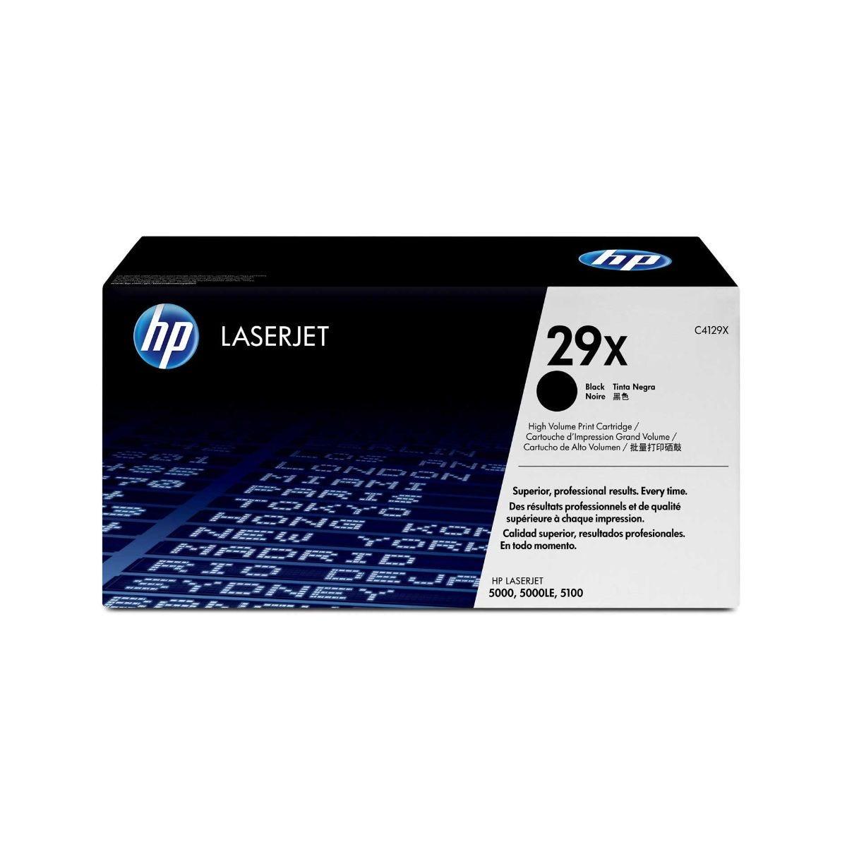 Image of HP 29X Laserjet Printer Ink Toner Cartridge C4129X, Black