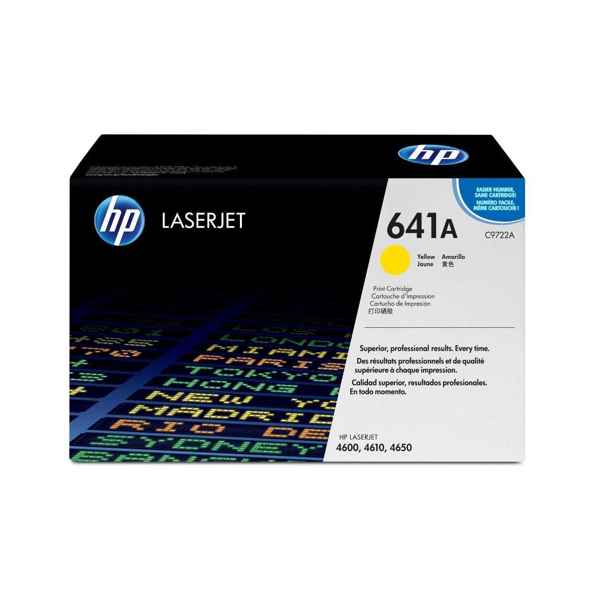 Image of HP 641A Laserjet Ink Toner Cartridge C9722A, Yellow