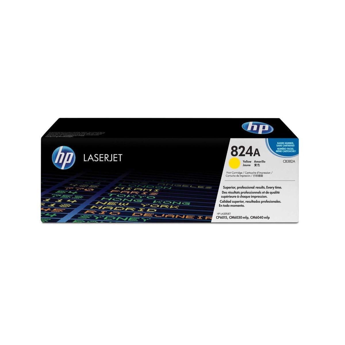 HP 824A Laserjet Printer Ink Toner Cartridge CB382A, Yellow