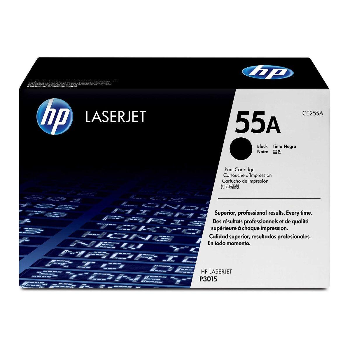 Image of HP 55A Laserjet Printer Ink Toner Cartridge CE255A, Black